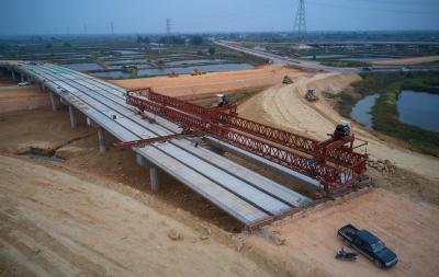海陵岛大桥项目全线梁板架设完工