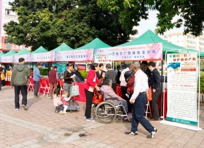 東莞志愿服務走進社區,動員市民參與文明創建