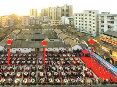 深圳龍崗坪地四方埔蕭氏宗祠慶典,千名客家人圍屋祭祖