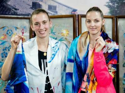 WTA球員體驗中國絲綢文化
