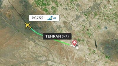 一载有170人波音737客机在伊朗起飞后坠毁