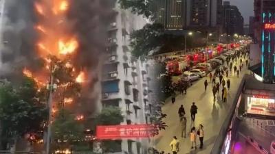 深圳一高層住宅發生火災!有市民反映:消防路曾被堵