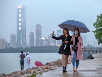 深圳灣公園雨中即景