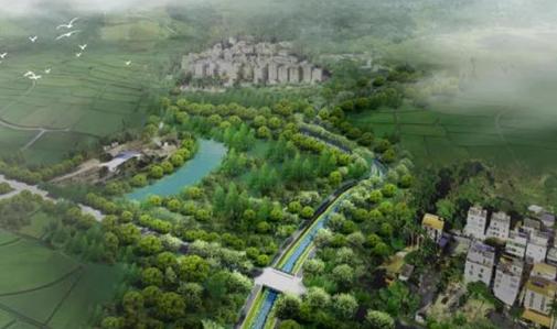 從鶴藪古村中提取文化元素,大鵬新區淡水涌將升級為生態水系景觀帶