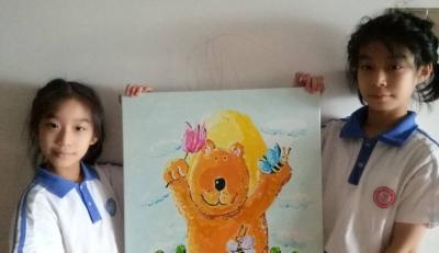 童趣!塘尾社区亲子手绘油画倡导保护生态环境