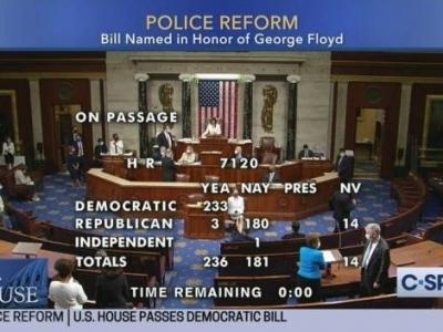 備受爭議!美眾議院通過警察改革法案