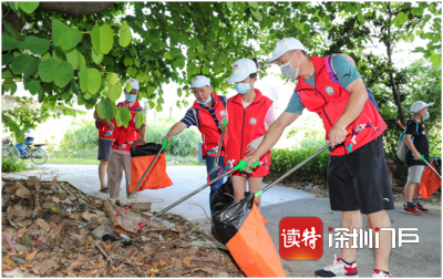 徒步拾垃圾!坪地組織黨員志愿者開展河道環保行