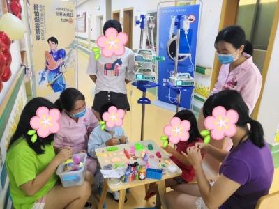 中山七院這群重癥小患兒親手制作花朵、小汽車等手工品送給父母