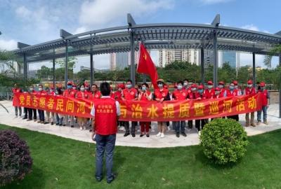 党员志愿者、民间河长巡水清岸绿美丽布吉