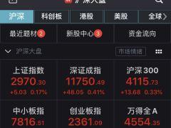 A股震荡上扬沪指涨0.17% 酿酒板块整体走强