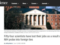 54名美国科学家被迫失去工作,绝大多数是亚裔和华人!