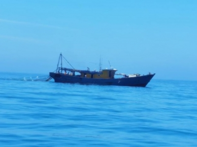 潮州海警局連續查獲五艘違規出海作業漁船