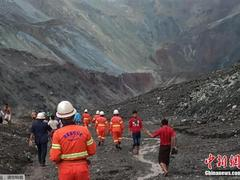 缅甸塌方遇难人数或已升至113人 暴雨致搜救工作暂停