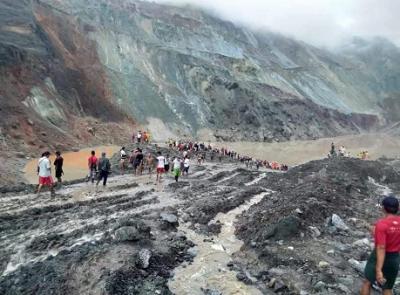 缅甸帕敢翡翠矿区发生大规模塌方,已致166人遇难55人受伤