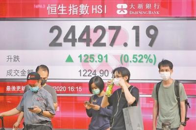 国安法通过港股收升 六月恒指涨1465点