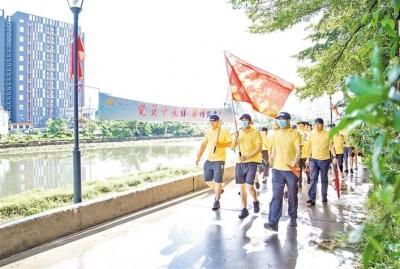 沙井街道:500余名党员以行走的力量保护绿水青山