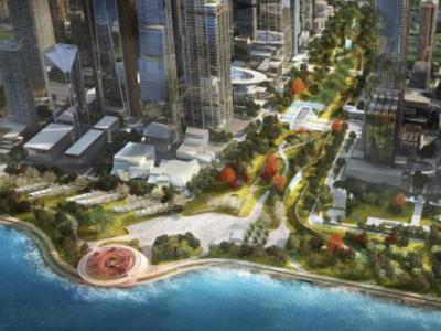 深圳湾超级总部基地中央绿轴与片区景观系统设计国际咨询结果出炉  这个方案获第一名