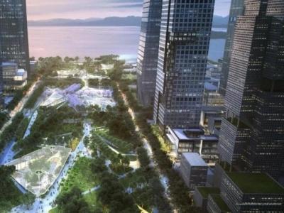 惊艳!深圳湾超级总部基地中央绿轴与片区景观系统设计最强方案出炉