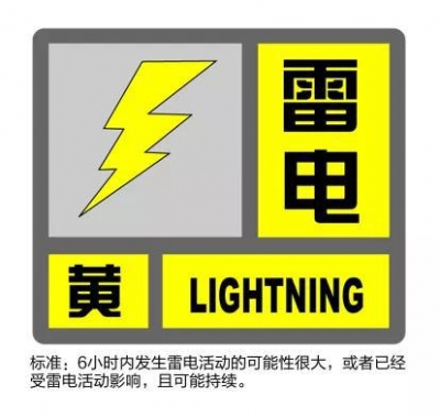 深圳市发布分区雷电预警