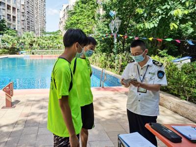 确保卫生安全!横岗卫生监督分所开展辖区游泳场所专项检查
