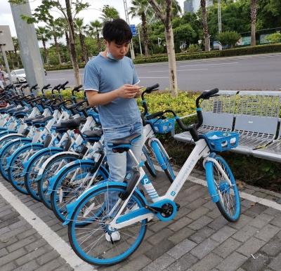 共享单车3.0时代~哈啰出行在深圳推广电子围栏定点停放