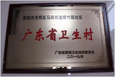 """马田街道两社区获评""""广东省卫生村""""称号"""