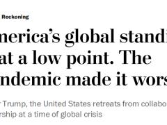 """为""""美国优先""""特朗普政府无所不用其极 美媒:70年共识崩塌 美全球地位正处低谷"""