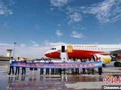 昆明—中卫旅游包机首航成功