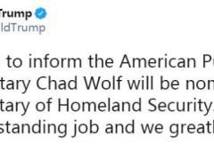 美国安部一年多无正式负责人 特朗普欲提名代理部长