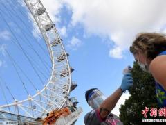 受疫情冲击 英国第二季度国内生产总值下降20.4%