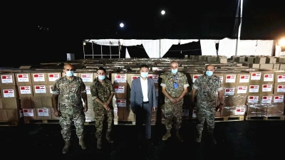 """中国驻黎巴嫩使馆向贝鲁特港爆炸受灾贫困家庭捐赠""""食品包"""""""