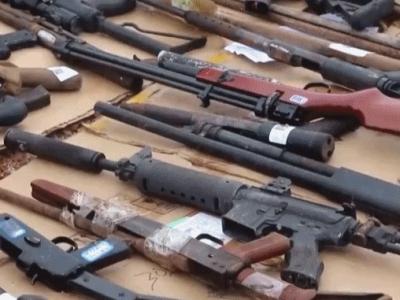 炮弹39枚、枪支224支,南宁警方集中销毁非法枪爆物品