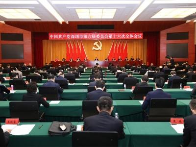 中共深圳市委六届十六次全会召开