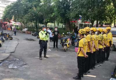 80余名骑手上交通安全课!龙岗交警组织开展交通安全教育培训
