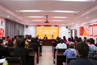 光明街道白花人大代表社區聯絡站代表述職暨民法典宣傳活動