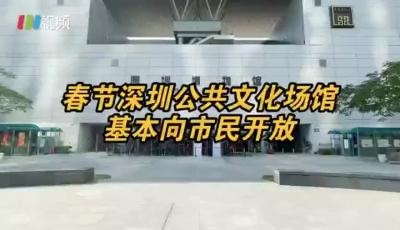 春节不打烊, 深圳春节将免费开放这些公共文化场馆