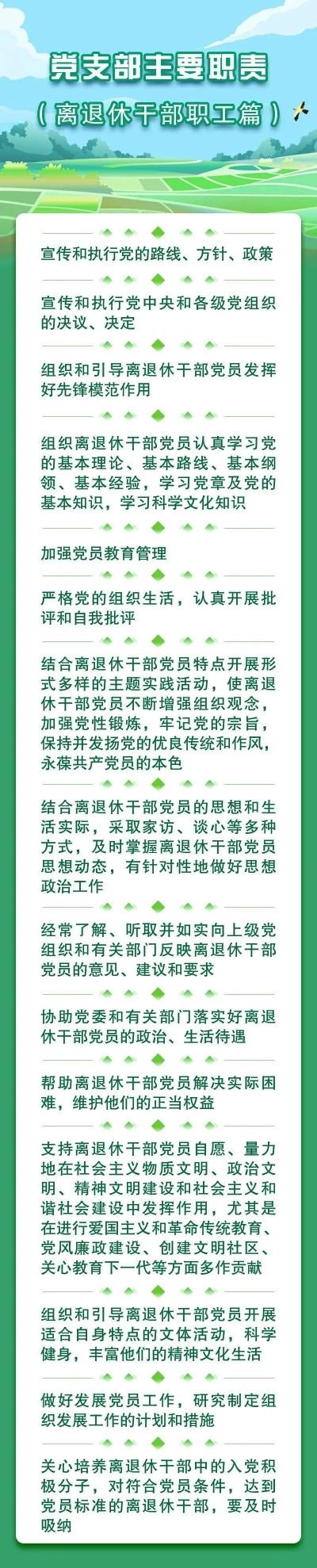 党务小课堂   党支部主要职责(离退休干部职工篇)