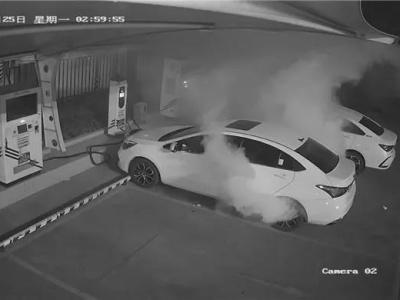 惊险!中山一电动汽车凌晨充电着火,车主正在车内休息