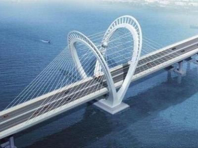 珠机城际金海大桥横琴侧连续刚构梁合龙